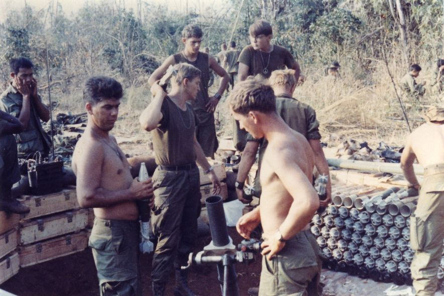 Bu Gia Map Vietnam  city photos : Mortar crew starting fire mission. Bu Gia Map, Vietnam 1969