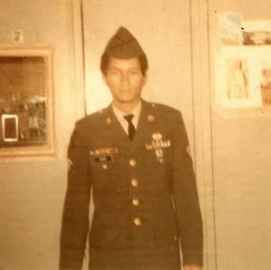 Sp/5 Roger Byer back from Vietnam  in1971.