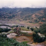 Terraced rice paddy and valley, Sapa, 1995