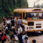The dollar bus from Lao Cai to Sapa, 1995