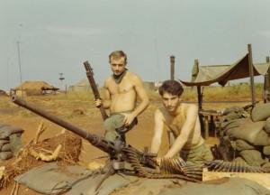 Lamb with grenade launcher, Medic on fifty caliber machine gun. LZ Compton, An Loc 1969