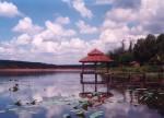 Lake by small village. Quan Loi, Vietnam 1995