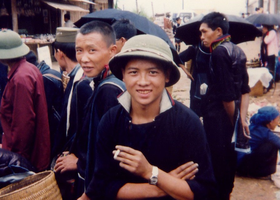 Man With Pith Helmet in Sapa