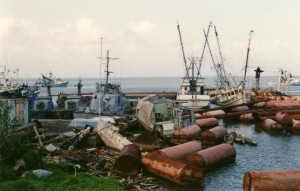 Managua Harbor after it was mined by the CIA in the 1980s. Managua, Nicaragua 1989. author photo