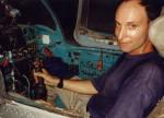 Medic in MIG 21 cockpit, Hanoi Air Force Museum, Hanoi, 1995