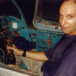 Medic in MIG 21 cockpit, Hanoi Air Force Museum, Hanoi, 1995