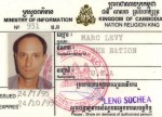 Press Pass issued by Ministry of Information, Phnom Penh, Cambodia