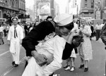 Edith Shain, age 92, passed away at her home in Los Angeles on Sunday in June 2010. 65 years ago, her embrace with a US sailor celebrating the end of World War Two became one of the most famous photos in history.  Obit: http://tinyurl.com/2udtkuo