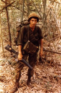 Doc Levy on Patrol. Tay Ninh, Vietnam 1970
