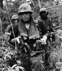 Soldiers on patrol. Photo: Charlie Haughey.Vietnam 1969