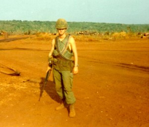 Jeff Motyka on LZ Compton. An Loc, Vietnam 1969