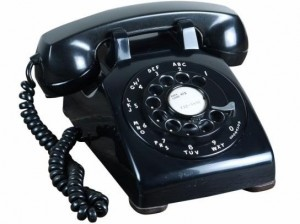Classic Black Bell Systems 500 Series 1950s telephone. Made in USA.