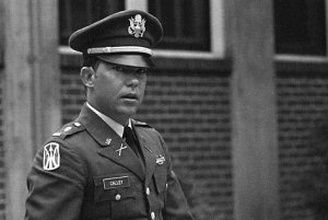 Lt. Calley at his court-martial at Fort Benning, Greorgia 1971.