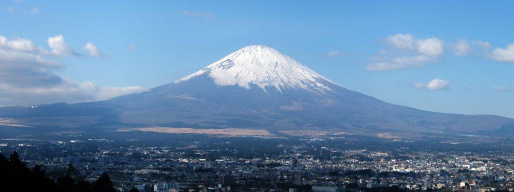 Mt. Fuji in the distance.