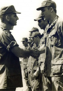 Carl Lee receiving Bronze Star. Phuc Vinh,Vietnam 1970