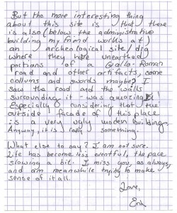 Erin's letter to Medic page 2