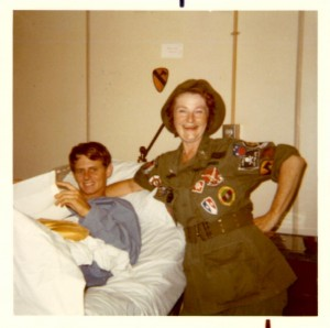 "Jeff with Helen ""Patches"" Musgrove. 3rd Field Hospital, Saigon 1970"