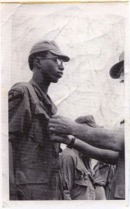 Sgt.Odell Newton receiving Bronze Star with V device. Phuc Vinh,Vietnam 1970