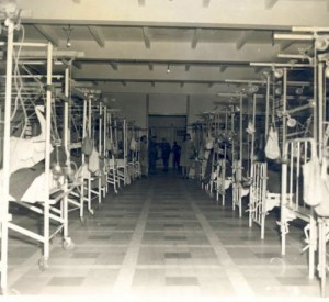 Femur ward, 21st General Hospital, Ravenel Hospital, Mirecourt, France, 1945