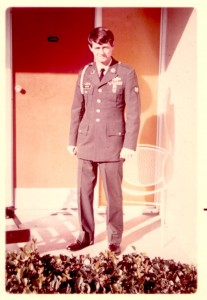 First day out of Walter Reed. 1971