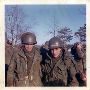 Medic and buddy Sal Jeppi. Ft Dix, NJ 1969