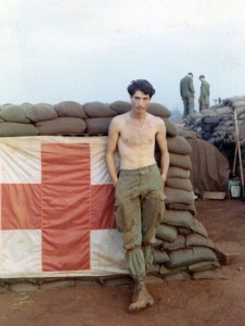 Medic as shit burner. LZ Frances, Tay Ninh 1970