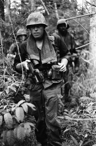 Soldiers on patrol. Photo: Charlie Haughey, 25th Infantry 68-69