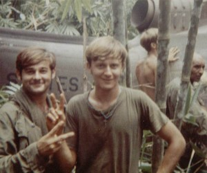 Brockman and Ervasti by downed Huey. 1970