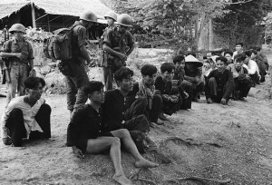 Vietnamese Soldiers Guarding Viet Cong Captives