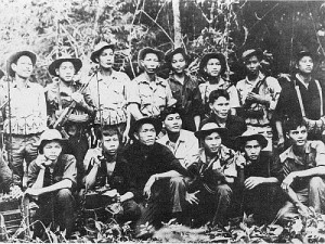 An NVA platoon in the jungle