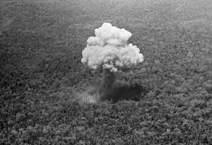 The moment a Commando Vault detonates over the jungle in Vietnam