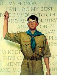 BOY SCOUT ROCKWELL PAINTING