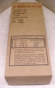 BATTERY FOR PRC 25